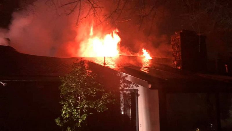 Franklin Street house fire early Thanksgiving morning