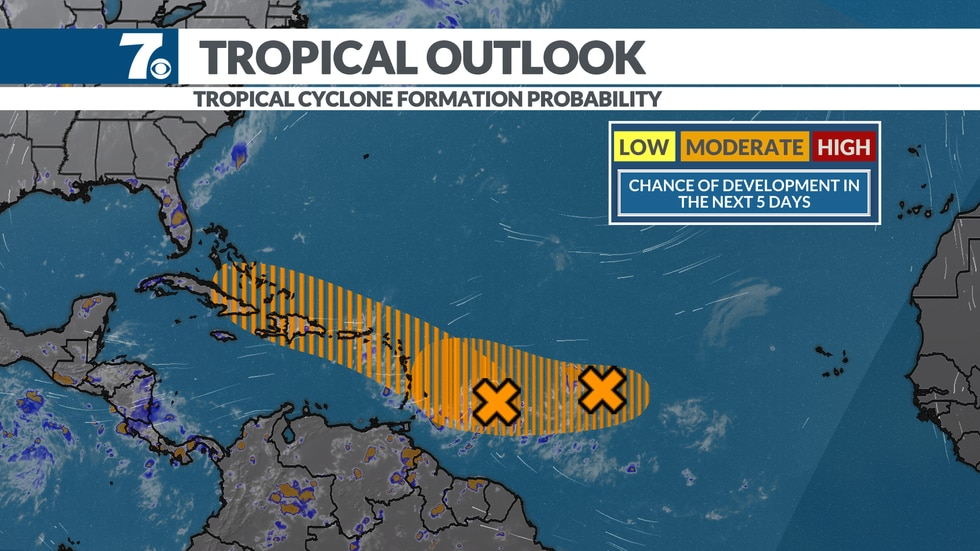 Two disturbances could develop in the upcoming week.