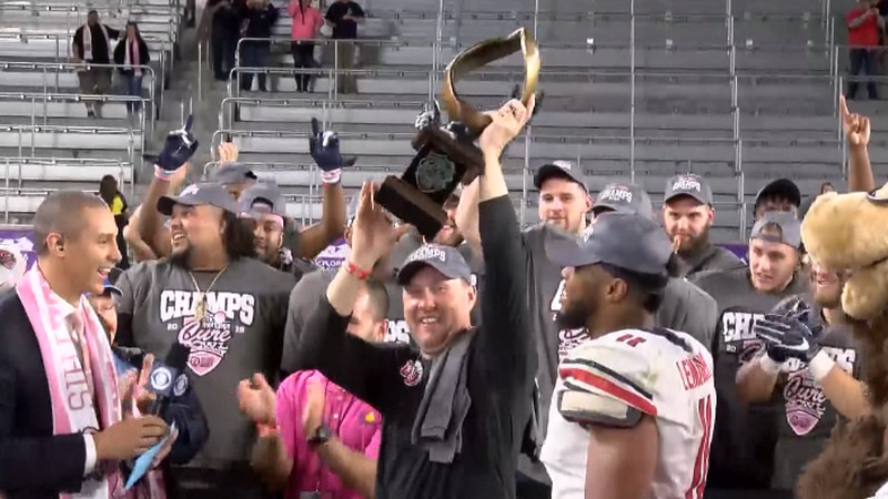 Hugh Freeze led his team to a bowl win over Georgia Southern back in December
