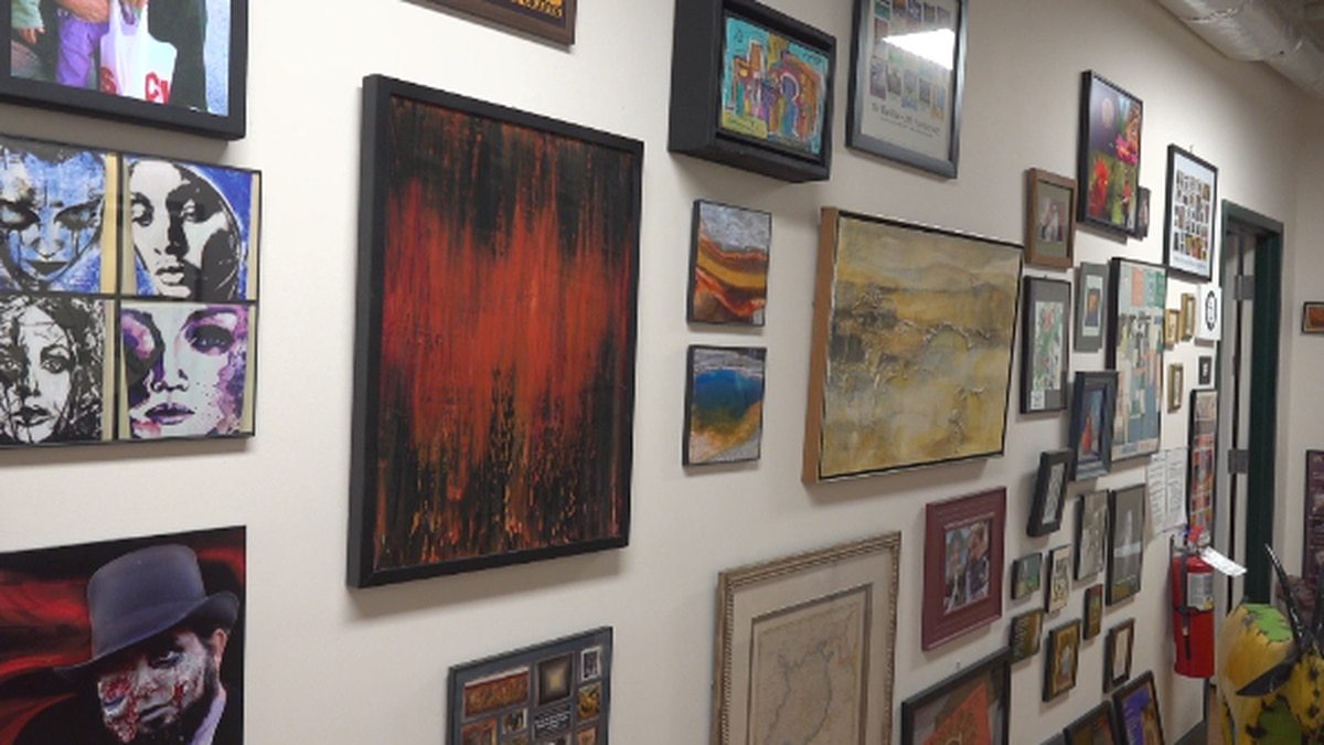 """Part of the collection """"Art to the People"""" is displayed in Riverviews Artspace. WDBJ7 photo."""