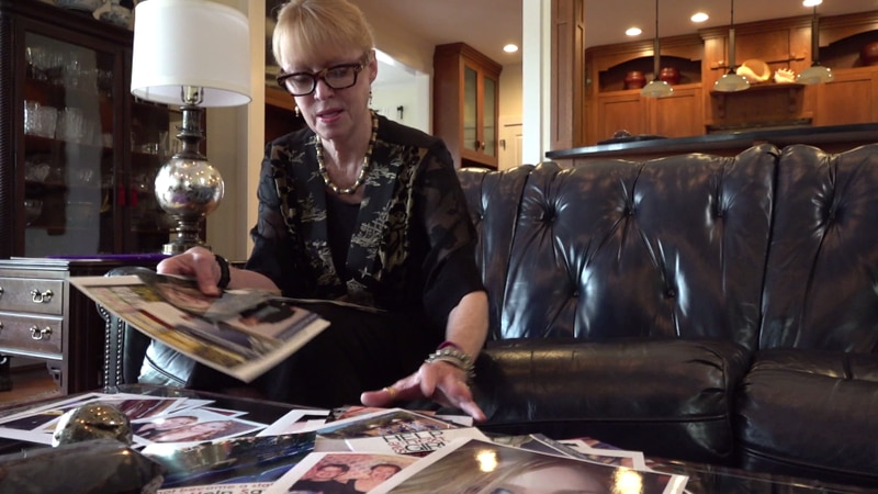 Gil Harrington looks at photos of her daughter Morgan who was murdered by Jesse Matthew....