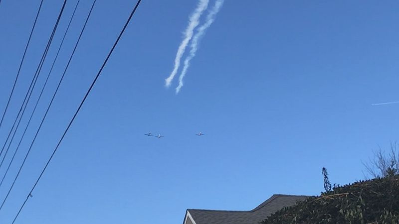 These planes flew over Alfred Farrar's house on Bedford Avenue in Lynchburg.
