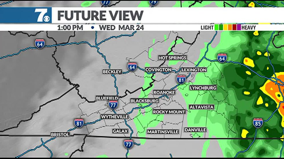 We'll see mist and drizzle early followed by another round of rain Thursday.