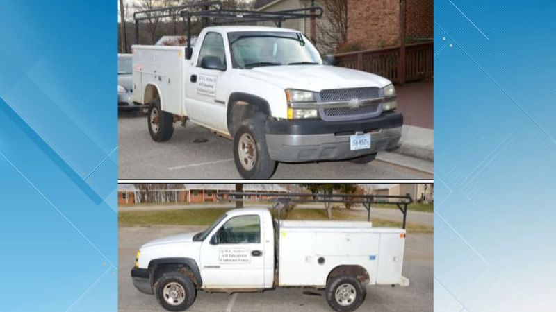The Franklin County Sheriff's Office is looking for a truck stolen from the 4H center in Wirtz.