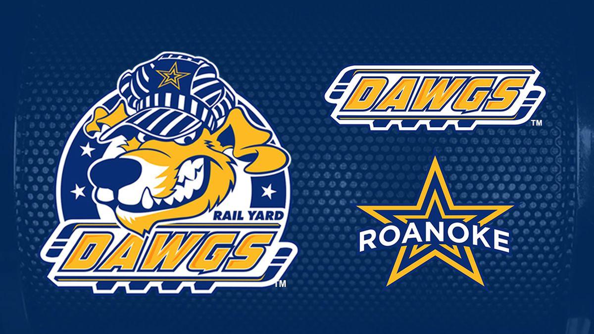 The new logo design for the Roanoke Rail Yard Dawgs released on Thursday.