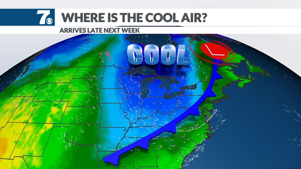 We're watching cool, Canadian air that may end up dropping south into the area around September...