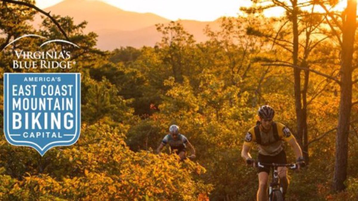 Screenshot from the Virginia Blue Ridge East Coast Mountain Biking website