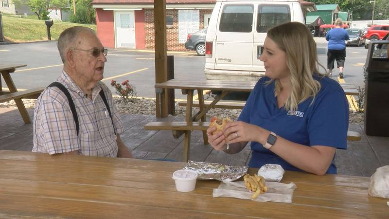 WDBJ7's Katey Roshetko talks with Dude's Drive In founder, Dude Griffith, over some burger and...