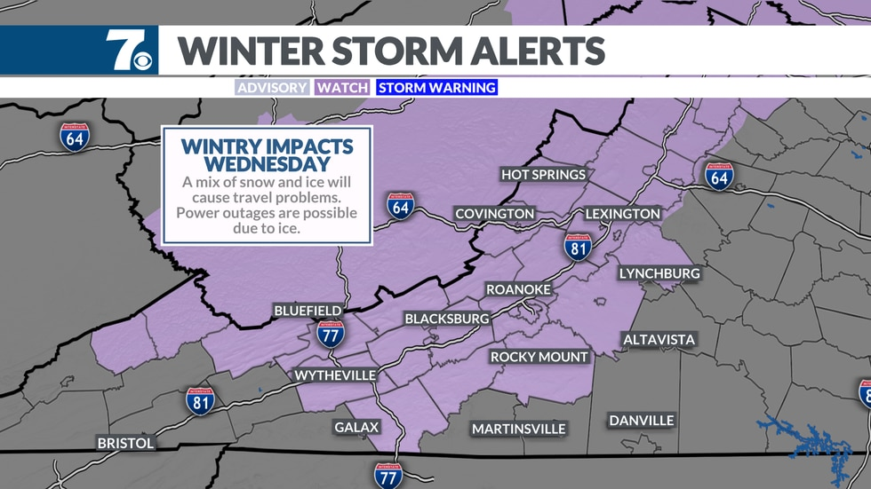 A Winter Storm Watch means significant snow and/or ice accumulation may lead to travel problems.