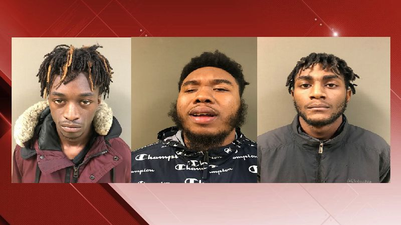 (L-R): Desean Anderson, Tyeshawn Goodnight, Jamari Melton, arrested for a home invasion robbery