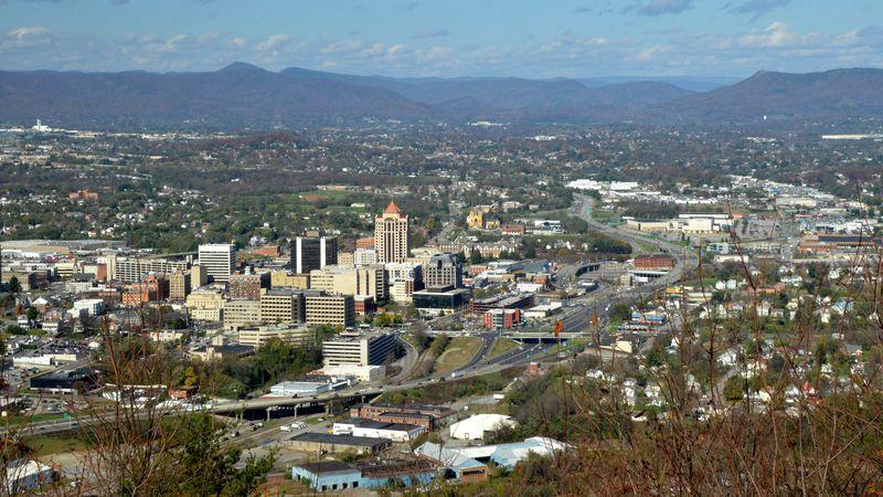 Roanoke skyline from Mill Mountain
