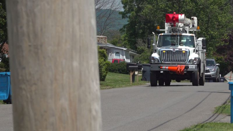 AEP crews work to restore power