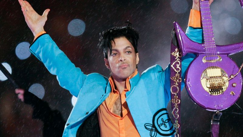 FILE - In this Feb. 4, 2007 file photo, Prince performs during the halftime show of the Super...