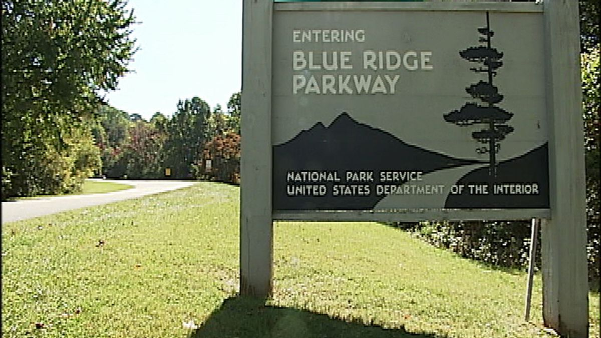 A sign on the Blue Ridge Parkway in Virginia.