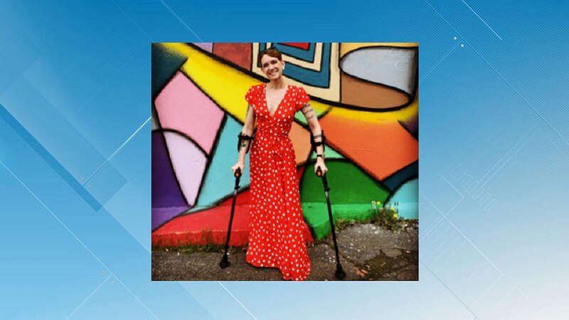 Ryann Kress can walk short distances, but uses her wheelchair now, full time.