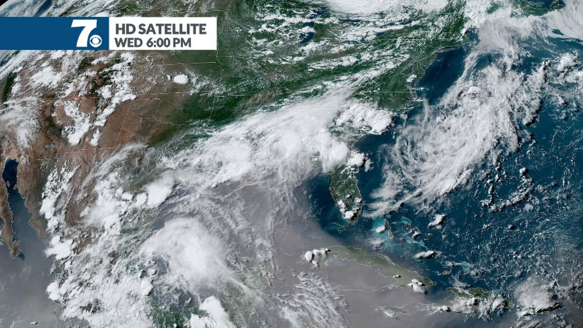 Brown sand and dust from Africa can be seen over the Gulf Coast and Caribbean as it approaches...