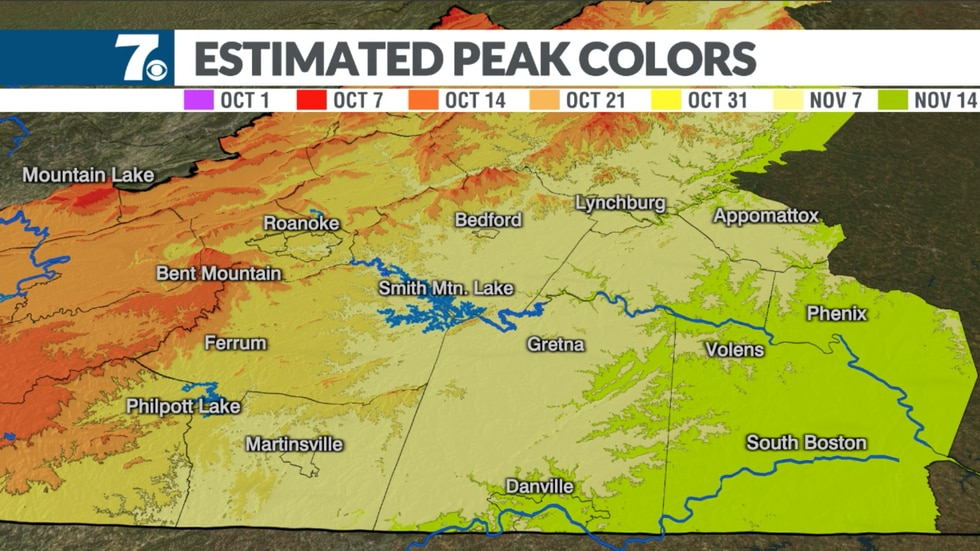Areas in our eastern counties are one of the last places to experience the changes during the fall. However, you can prolong your weekend hikes to see some amazing colors.