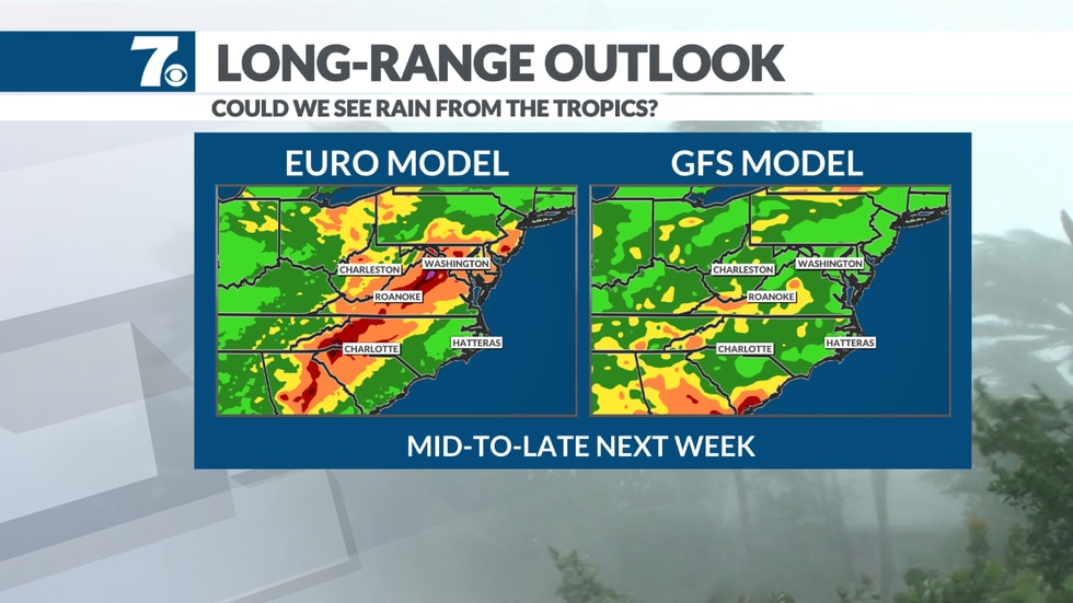 We could see some tropical rain from Fred later next week.