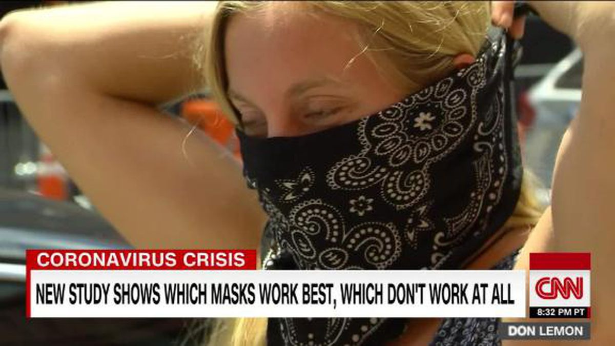 The researchers tested 14 different types of masks, everything from N95 surgical masks to gaiters.