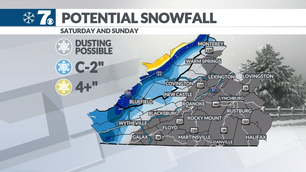 Snow accumulation is likely along the Western mountains today.