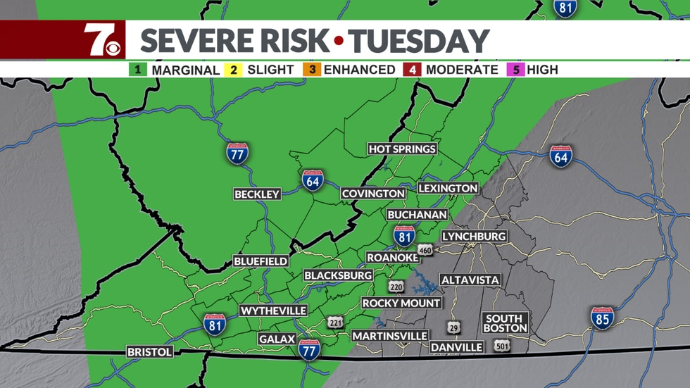 SPC Outlook for Tuesday
