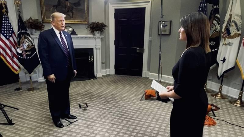 Washington Bureau Chief Jacqueline Policastro interviews President Trump at the White House.
