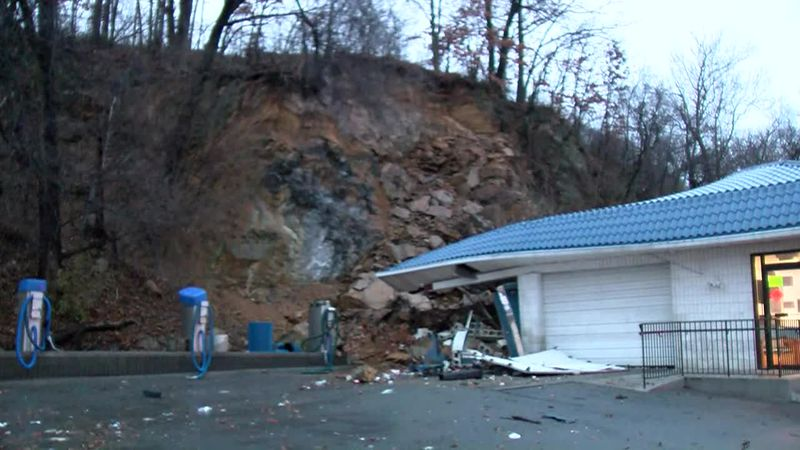 Roanoke Car Wash Mudslide Damage
