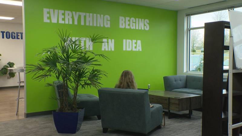 This co-working space was designed to be a place where people could turn their ideas into...