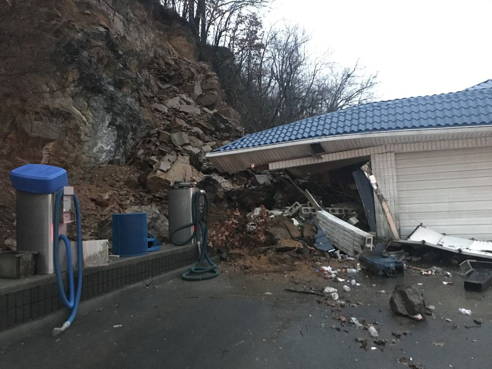 A mudslide has damaged the Southern Classic car wash on Orange Avenue.