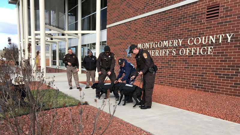Christmas came a little early at the Montgomery County Sheriff's Office Tuesday, when a couple...