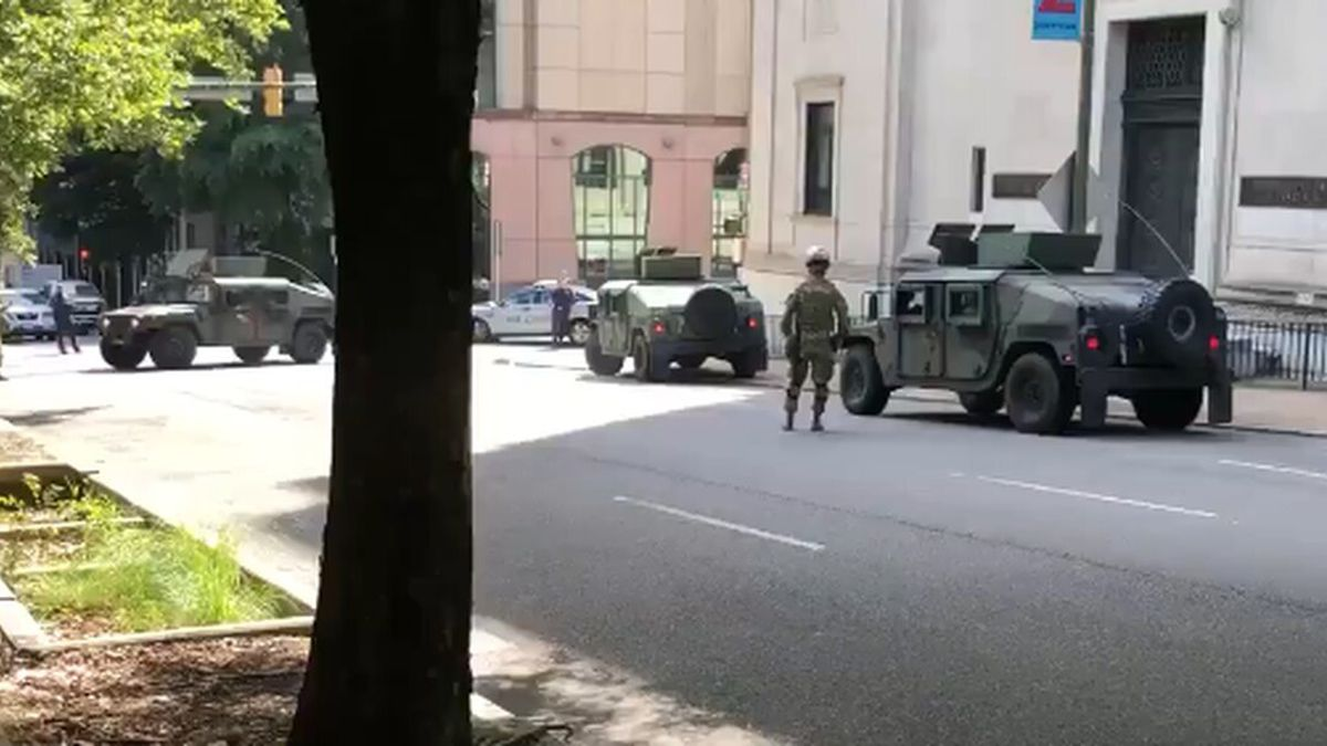 National Guard moves into downtown Richmond on fifth day of protests. (Source: WWBT)