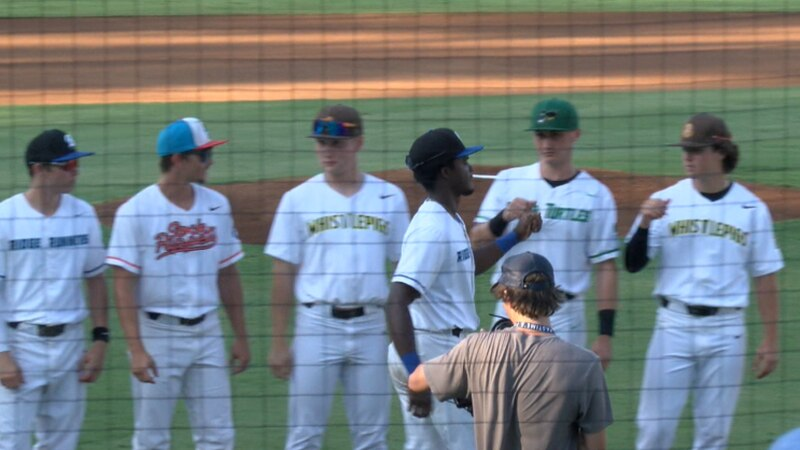 The East team gets introduced during Tuesday's Appalachian League All-Star Game in Pulaski.