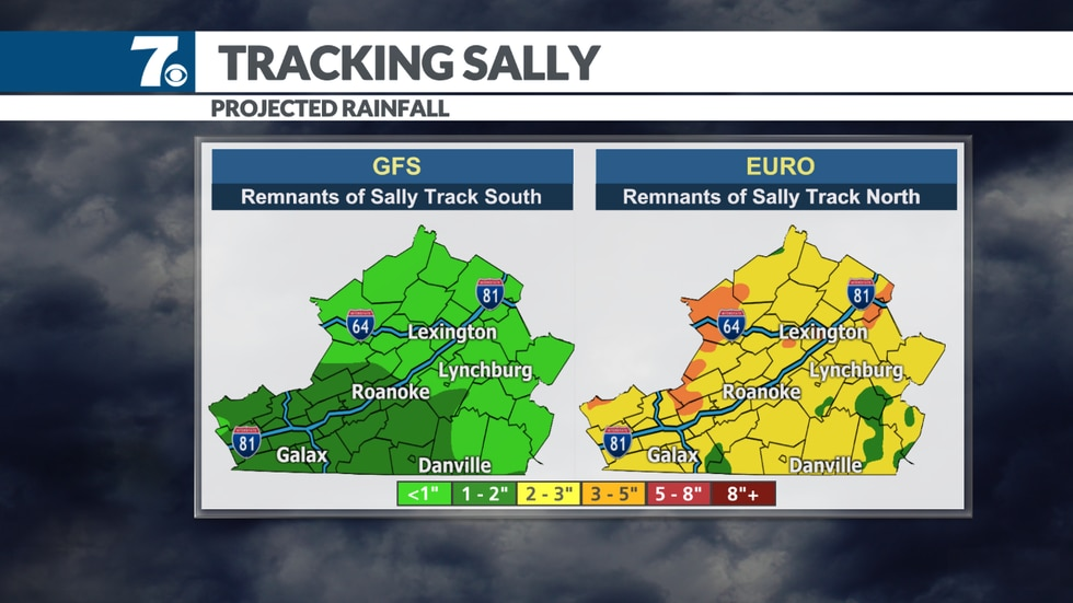 Sally could bring rain for the end of the week.