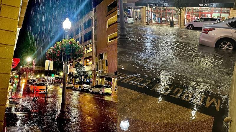 Downtown Roanoke Flooding... 8.19.21 / Megan Nelson