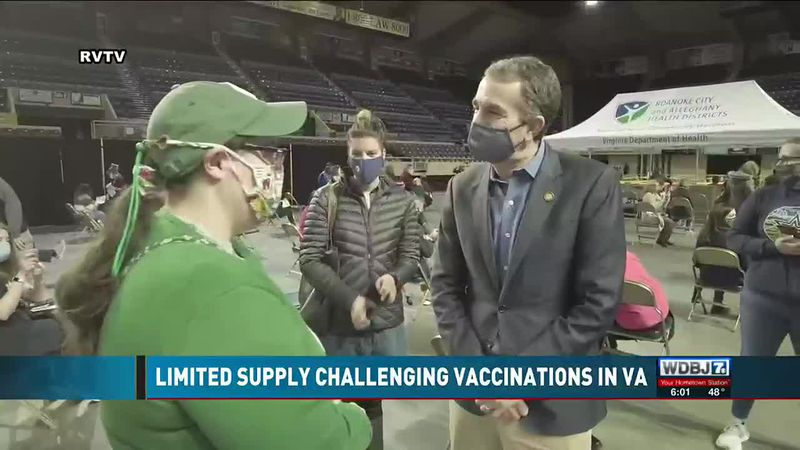 Governor Northam Speaks About Limited Supply