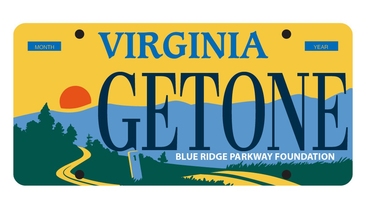 A sample image of the Blue Ridge Parkway Foundation's new specialty plate. 450 preorders must...