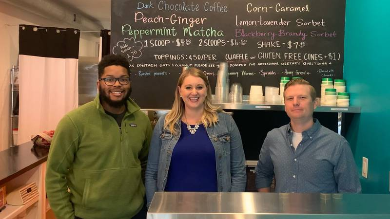 WDBJ7's Katey Roshetko visits Creme Fresh with co-owners, Quincy Randolph and Nate Sloan.
