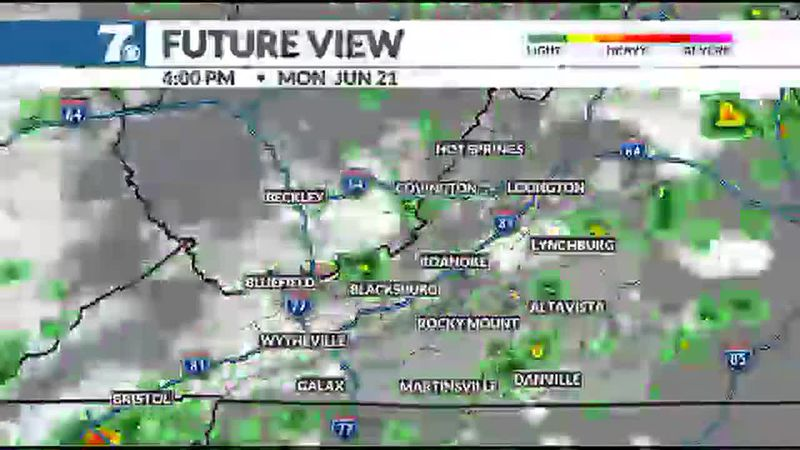 A few thunderstorms are possible, some of which may be on the stronger side.