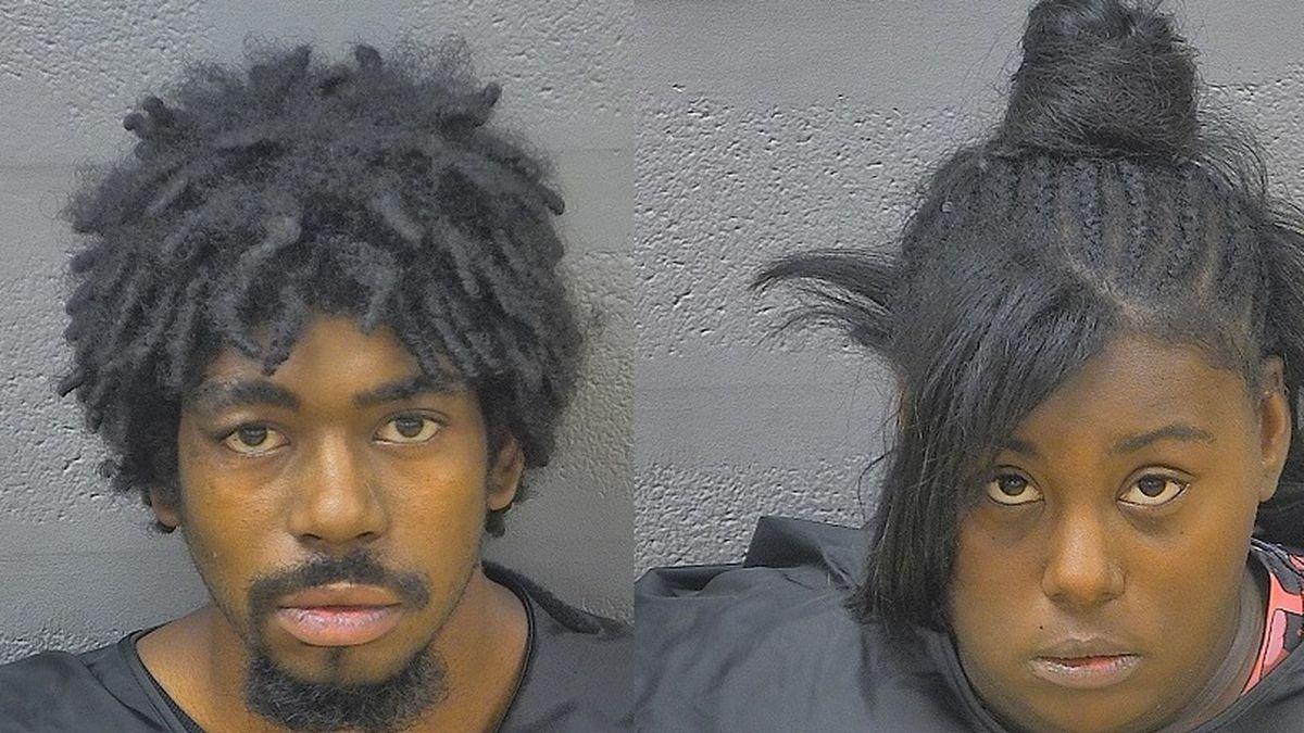 Montchello Johnson (L) and Cynthia Scott (R) mugshots