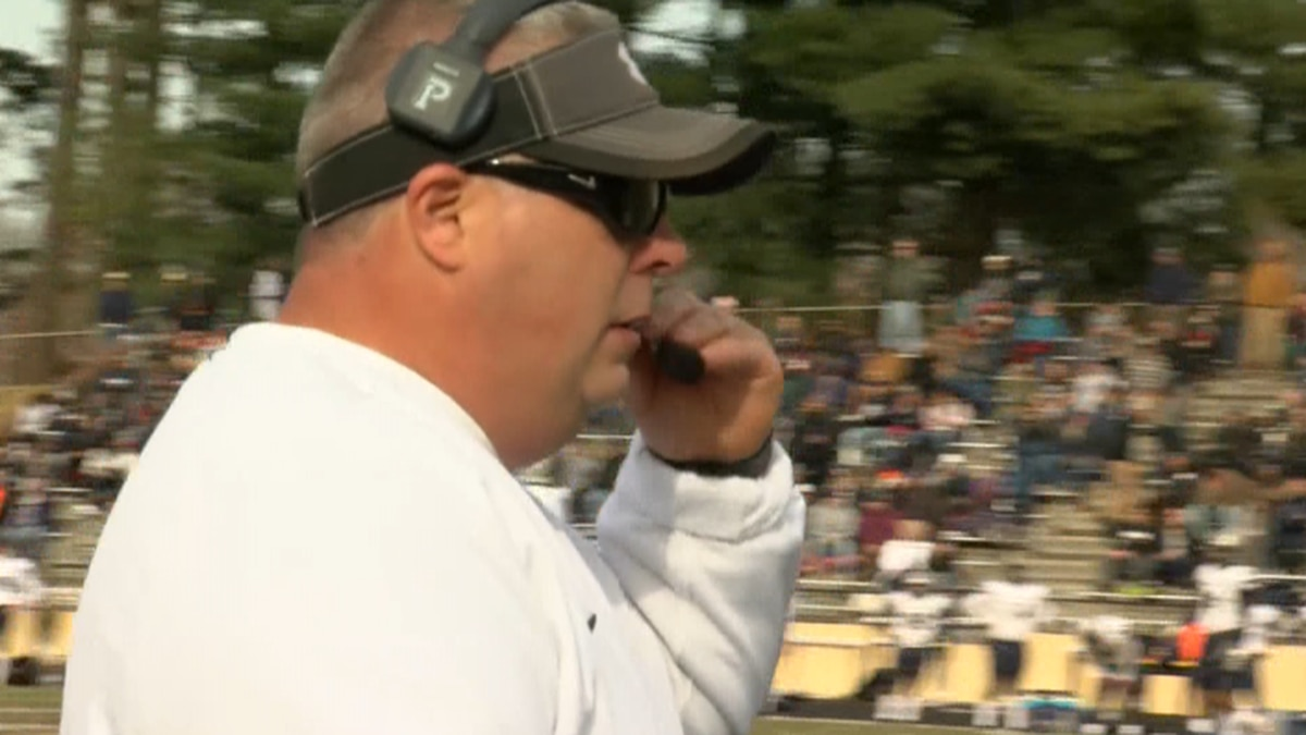 Former Radford High School football coach Matthew Saunders