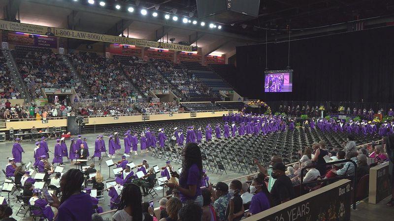 Patrick Henry High School seniors graduated at the Berglund Center on Friday.