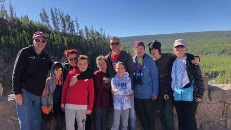 The Stavola family enjoyed their summer vacation in Yellowstone National Park