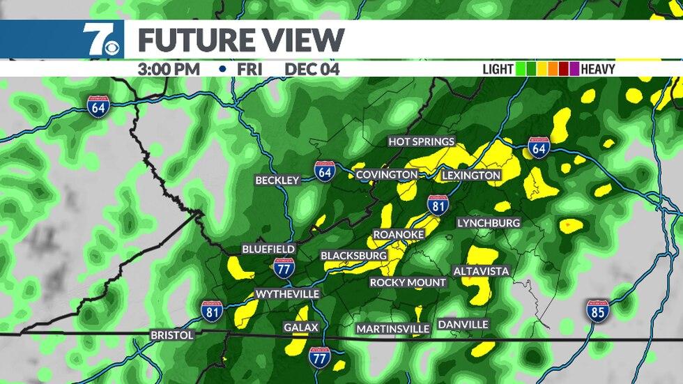 Rain returns on Friday.