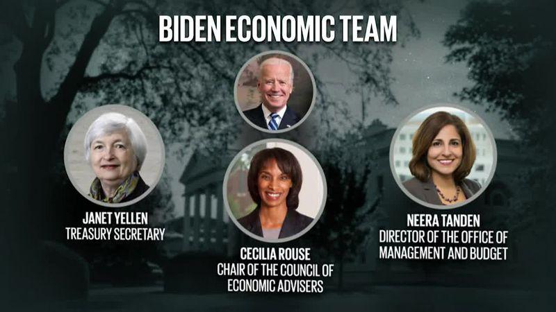 Biden announces economic team, receives President's Daily Brief