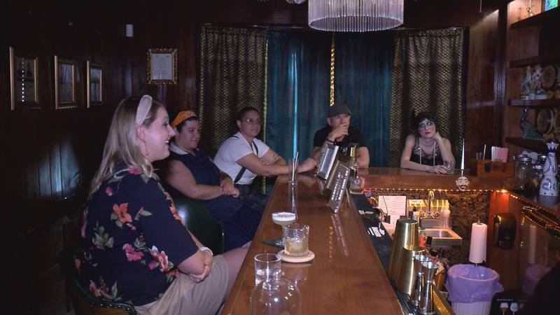 The Lush Lounge in Floyd is a 1920's themed speakeasy.