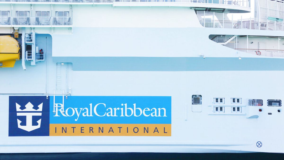 FILE - In this March 14, 2020 file photo, Royal Caribbean International cruise ship docked at...