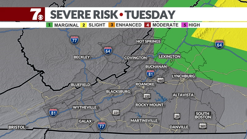 A few storms are possible today some of which may be strong.