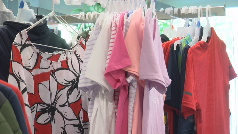 Clothes are among the items available in the PMMS store.