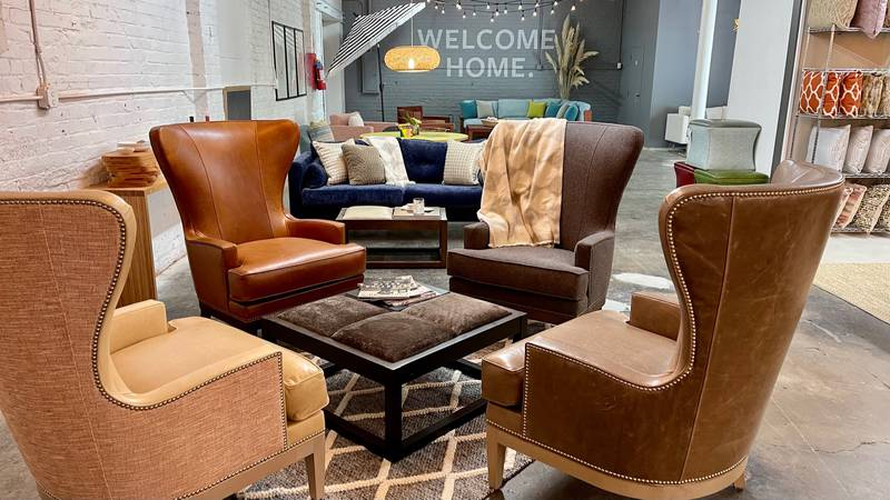 Anew showroom featuring Txtur furniture made in Roanoke opened Thursday morning.