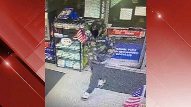 Surveillance image from Fas Mart robbery in Martinsville